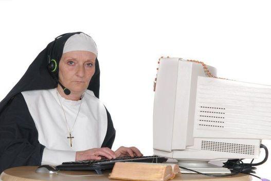 """""""pare aí seu mentiroso"""" disse a freira"""
